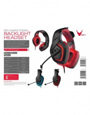 VARR HEADSET HI-FI STEREO MIC OVH5050 RED [44419]